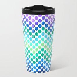 Dot Chevron: Blue Purple Travel Mug