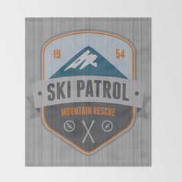 Ski Patrol Throw Blanket