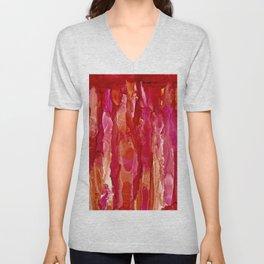 Crimson Cascade Unisex V-Neck