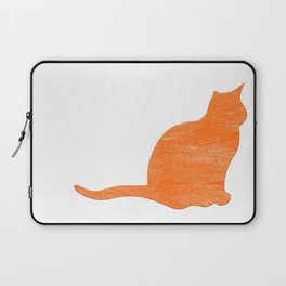 Vintage Orange Airplane Art Print Laptop Sleeve