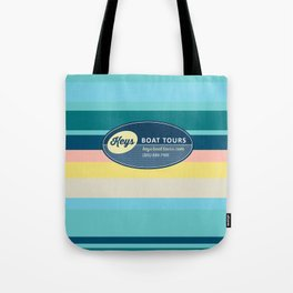 Keys Boat Tours Blue Stripe Tote Bag