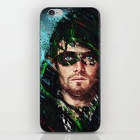 archer iPhone & iPod Skins featuring The Archer by Monika Gross
