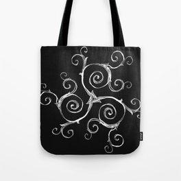Magic Mandala Twisted Triskele Tote Bag