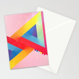 Happy Triangles Stationery Cards