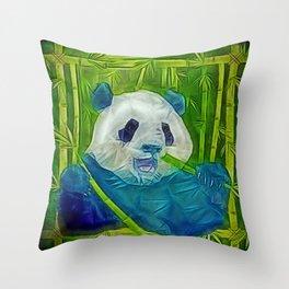 abstract panda Throw Pillow