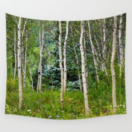 Etherial Aspen Wall Tapestry