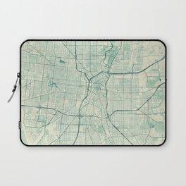 San Antonio Map Blue Vintage Laptop Sleeve