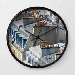 Orange Chimney Pots Wall Clock