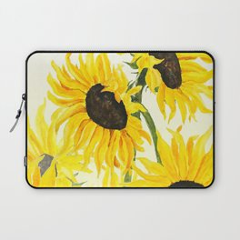 sunflower watercolor 2017 Laptop Sleeve