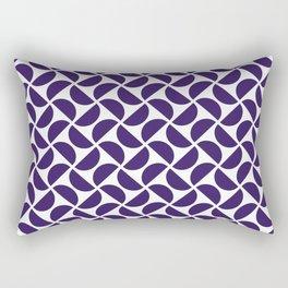HALF-CIRCLES, NAVY Rectangular Pillow