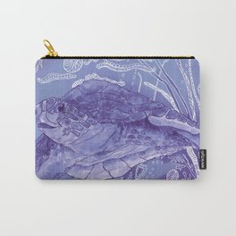 Periwinkle Turtle Carry-All Pouch