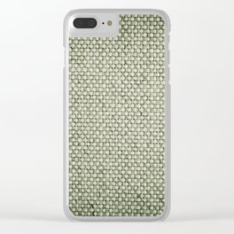 Green flax sheet cloth texture abstract Clear iPhone Case