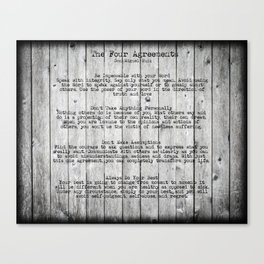 The Four Agreements 9 Canvas Print