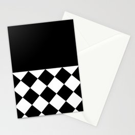 UNTITLED ABSTRACT (BLACK-WHITE) Stationery Cards