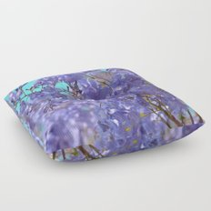 Purple and Blue Party! Floor Pillow
