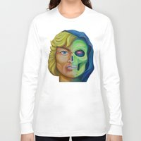 he man Long Sleeve T-shirts featuring He-man & Skeleton by kakin