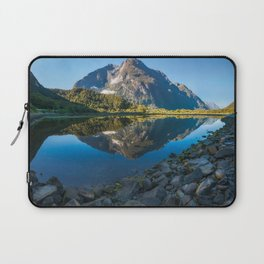 Mountain Reflection in the Bay at Milford Sound Laptop Sleeve