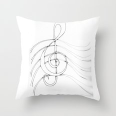 Clef Point Throw Pillow