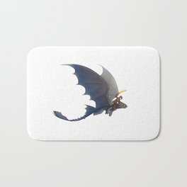 toothless and hiccup Bath Mat