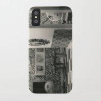 tim burton iPhone & iPod Cases featuring Hanging a painting fail - tim burton by PaperTigress