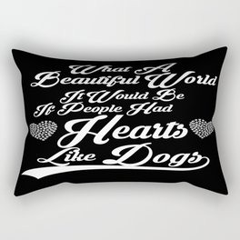 Heart like Dogs (white) Rectangular Pillow