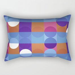 Game of circles Rectangular Pillow