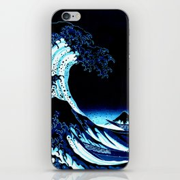 the Great Wave blue iPhone Skin