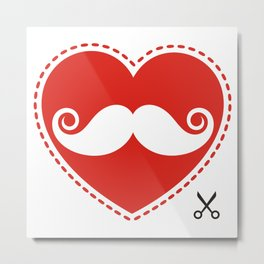 Loves mustache Metal Print