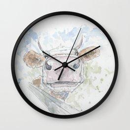 Friendly cow. Wall Clock
