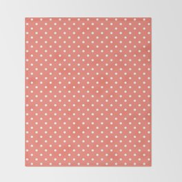 Dots (White/Salmon) Throw Blanket