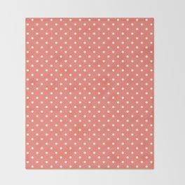Dots (White/Salmon) Throw Blanket