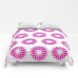 Pink Modern Sunbursts Comforters