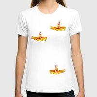 yellow submarine T-shirts featuring Fabric Yellow Submarine by AnnaCas
