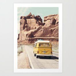 Going on a road trip Art Print