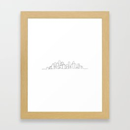 Houston Skyline Drawing Framed Art Print