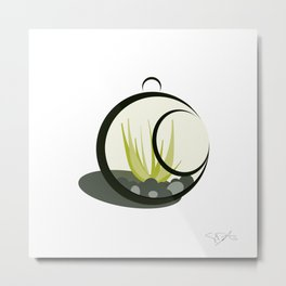 Little Green Guy Metal Print