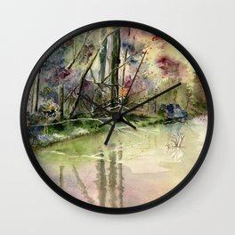 The End Of Wonderful Day Wall Clock