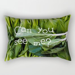 小白菜 - BABY BOK CHOY Rectangular Pillow