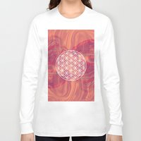 flower of life Long Sleeve T-shirts featuring Life Flower by shutupbek
