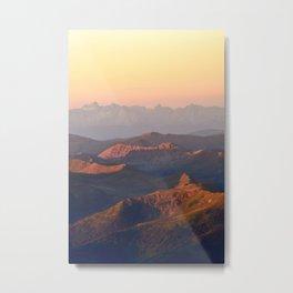 Alps in Morninglight Metal Print