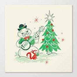 Vintage Snowman Canvas Print