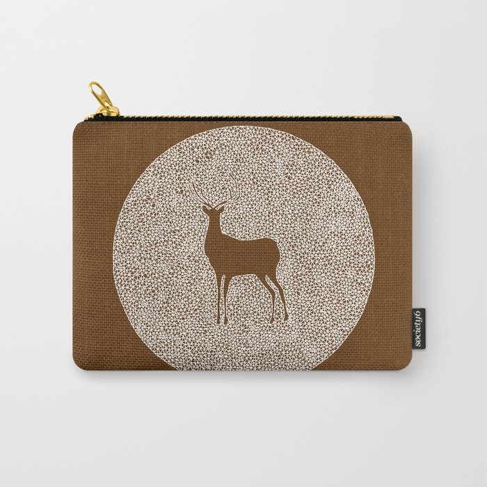 Deer Mandala 2 color Carry-All Pouch