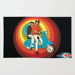 'Scooter Pair' Subway Soul by Dawn Carrington Rug