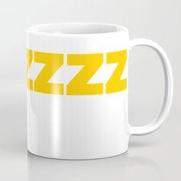 ZZZZZZ Yellow on White Coffee Mug