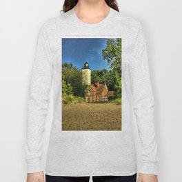 Image USA Presque Isle Pennsylvania Nature Lighthouses Long Sleeve T-shirt