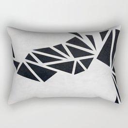 Geo Rhino (oil painting) Rectangular Pillow