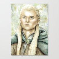 legolas Canvas Prints featuring Legolas Greenleaf by Elise Hoglund