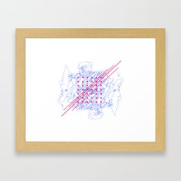 Fungus, Dots and Lines Framed Art Print