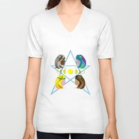 goddess V-neck T-shirts featuring Goddess by Watch House Design