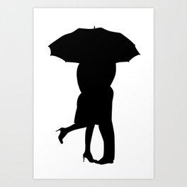 Under The Umbrella Of Love Art Print